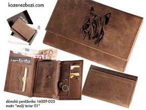 """Dámská peněženka 009 """"malý terier 01"""""""