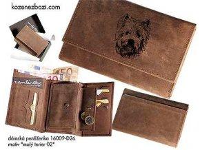 """Dámská peněženka 009 """"malý terier 02"""""""