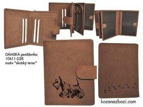 """Dámská peněženka 11 """"skotský terier"""""""